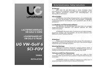 UG VW-Golf 6 SCI-FOV UG VW-Golf 6 SCI-FOV - Eton GmbH