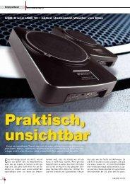 USB 8 und USB 10 z aktive Underseat Woofer von Eton