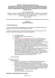 Betrsichv - Betriebssicherheitsverordnung