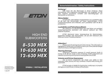 8-530 HEX 10-630 HEX 12-630 HEX 8-530 HEX 10 ... - Eton GmbH