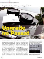 Upgrade im Passat - Upgrade Audio