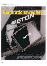Die neuen ECC- ?o stufen von Eton im Serientest - Eton GmbH