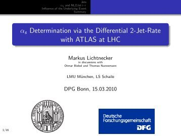 s Determination via the Differential 2-Jet-Rate with ATLAS at ... - LMU