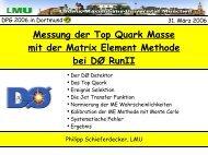 Messung der Top Quark Masse mit der Matrix Element ... - LMU