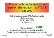 Suche nach Leptoquarks der zweiten Generation mit ATLAS ... - LMU