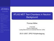 ATLAS MDT Test-Chambers in Neutron Background - LMU