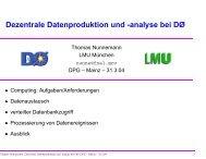 Dezentrale Datenproduktion und -analyse bei DØ - LMU