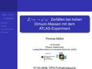 Z/γ∗ → µ+µ− Zerfällen bei hohen Dimuon-Massen mit dem ... - LMU