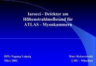 Iarocci - Detektor am Höhenstrahlmeßstand für ATLAS ... - LMU