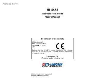 ETS-Lindgren HI-2200 Survey Monitor Drivers Download Free