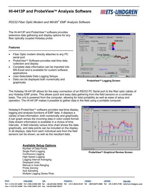 HI-4413P Fiber to Serial Converter - ETS-Lindgren