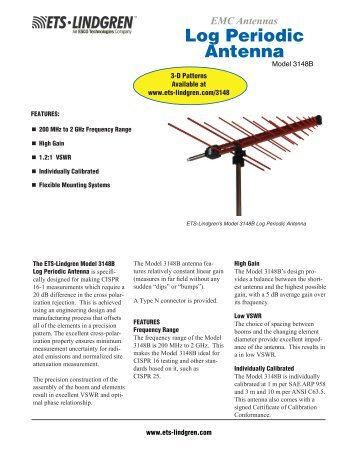 Log Periodic Antenna - ETS-Lindgren