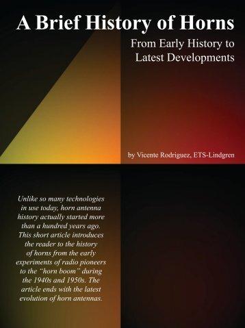 A Brief History of Horns - ETS-Lindgren