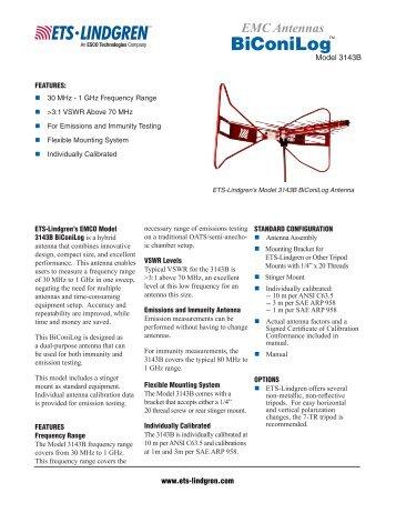 Datasheet - ETS-Lindgren