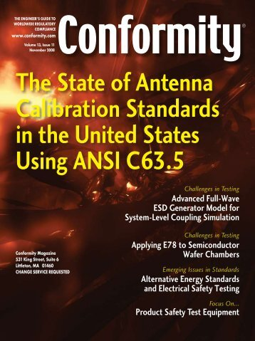 The State of Antenna Calibration Standards in the ... - ETS-Lindgren