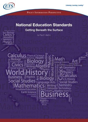 National Education Standards - ETS