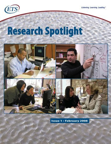ETS Research Spotlight - Issue 1, February 2008
