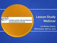 Lesson Study Webinar - ETS
