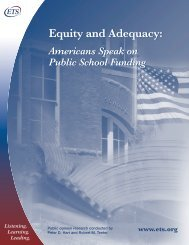 Equity and Adequacy: Equity and Adequacy: - ETS