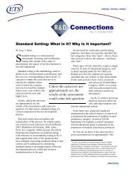 Standard Setting: What Is It? Why Is It Important? - ETS