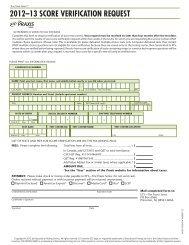 Score Verification Request Form - ETS
