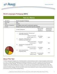 World Languages Pedagogy 0841 - ETS