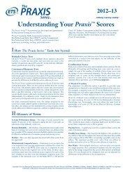Understanding Your Praxis™ Scores 2012–13 - ETS