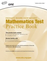 Mathematics Test Practice Book - ETS