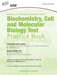 Biochemistry, Cell and Molecular Biology Test Practice Book - ETS