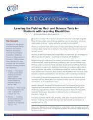 Leveling the Field on Math and Science Tests for Students ... - ETS