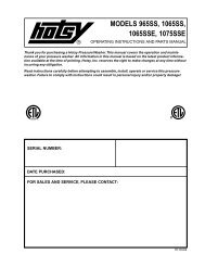 models 965ss, 1065ss, 1065sse, 1075sse - ETS Company Pressure ...