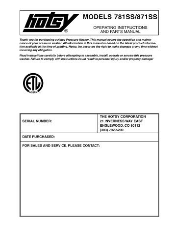 hotsy 781 871ss older ets company pressure washers and more?quality\=85 hotsy wiring diagram western plow wiring diagram \u2022 edmiracle co hotsy burner wire diagram at fashall.co