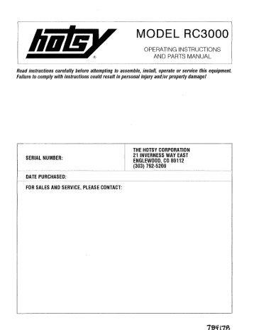 pressure washer wiring di rh yumpu com Hotsy Pressure Washers Parts List Hotsy Pressure Washers Parts List