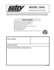 Hotsy 5645 97-6580 0605 - ETS Company Pressure Washers and ...