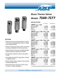 Brass Thermo Valve Data Sheet - Cat Pumps