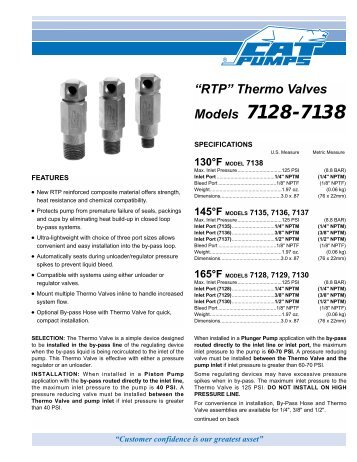 data sheet - Cat Pumps