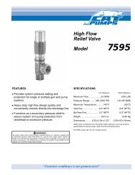 High Flow Secondary Pressure Relief Valve Data Sheet