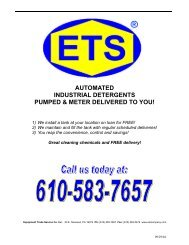 automated industrial detergents pumped & meter delivered to you!