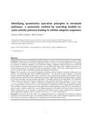 Identifying quantitative operation principles in metabolic pathways: a ...
