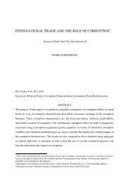 international trade and the role of corruption - European Trade Study ...