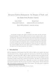European Eastern Enlargement, the Margins of Trade, and the ...