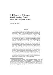 A Prisoner's Dilemma Tariff Setting Game with an Escape Clause