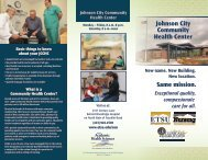 What is a Community Health Center? - East Tennessee State ...