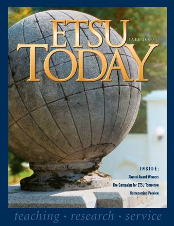 Fall 2000 ETSU today ¨ - East Tennessee State University