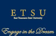 Engage in the Dream - East Tennessee State University