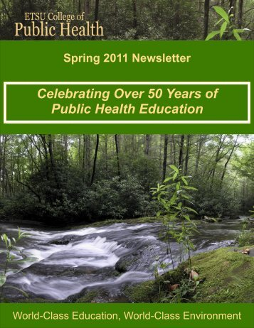 College of Public Health Spring 2011 Newsletter - East Tennessee ...