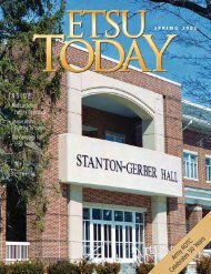 INSIDE: - East Tennessee State University