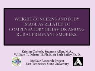 Presentation - East Tennessee State University