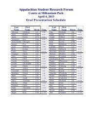 2013 Oral Presentation Schedule - East Tennessee State University