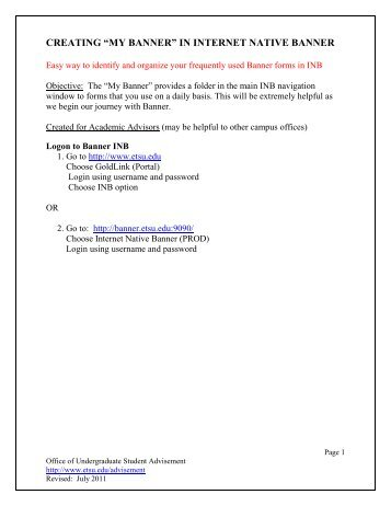 Banner Training Manual - CCSF Home Page